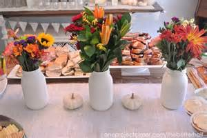 fall bridal shower ideas pumpkins and jars one project