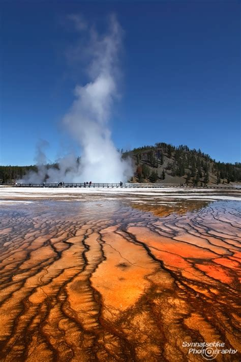yellowstone n p excelsior geyser excelsior geyser yellowstone np wyoming usa