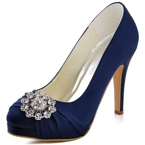 Navy Blue Bridal Heels by Image Gallery Navy Blue Wedding Shoes
