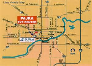 Lima Ohio Map by Pajka Eye Center 855 W Market Street Lima Ohio 45805