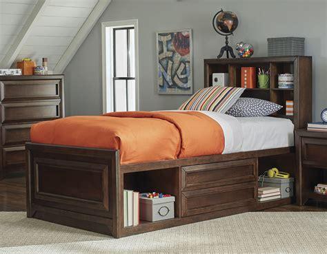 oak twin bed greenough maple oak twin panel storage bed 400820t