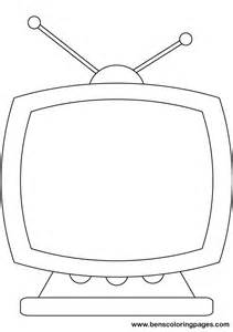 Tv Coloring Page free coloring pages of tv