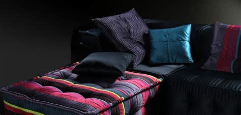 ls103da multi colored fabric sectional sofa