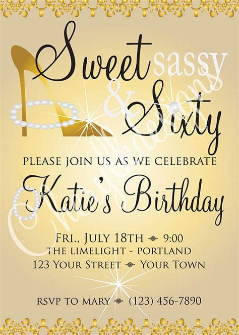 Sweet S Y Sixty  Ee  Birthday Ee   Invitation And  By