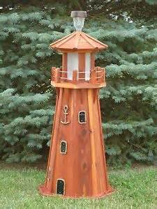 solar light house 39 quot octagon electric and solar powered cedar lighthouse ebay