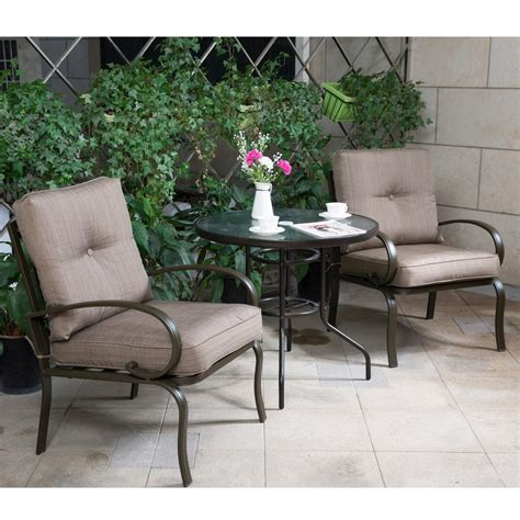 3 Pc Patio Set by 3 Pc Bistro Set Outdoor Garden Patio Furniture Dining Set