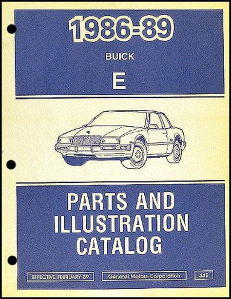 book repair manual 1989 buick riviera spare parts 1989 buick riviera reatta repair shop manual original
