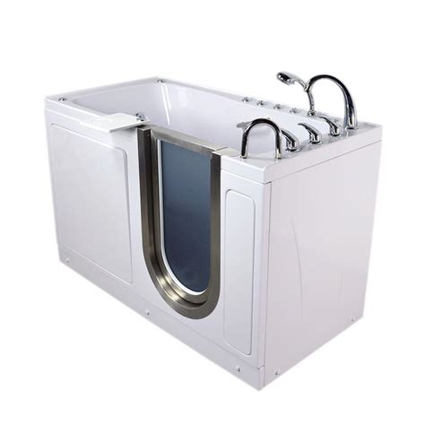 walk in whirlpool bathtub ella ultimate 5 ft acrylic walk in air and whirlpool
