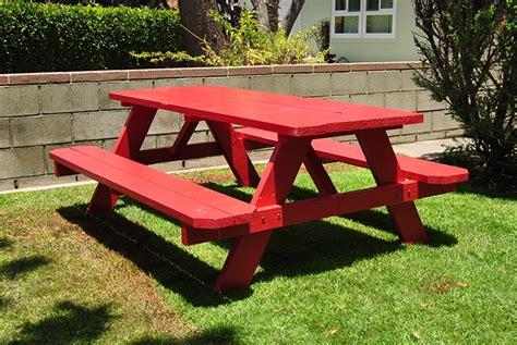 Patio Picnic Table Build A Picnic Table