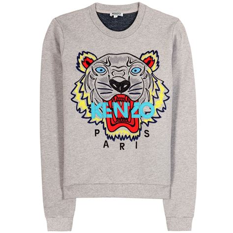 Sweater Logo kenzo logo print sweater in gray lyst