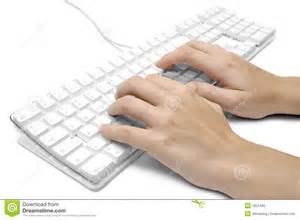 writing on a white computer keyboard royalty free stock