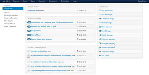 joomla 3 admin template free joomla 3 x how to hide joomla version update options from