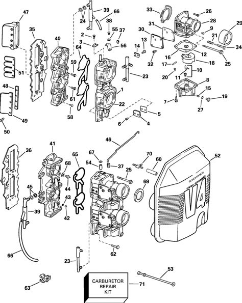 johnson carburetor amp intake manifold parts for 2004 90hp