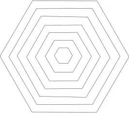 hexagon shape printable template images