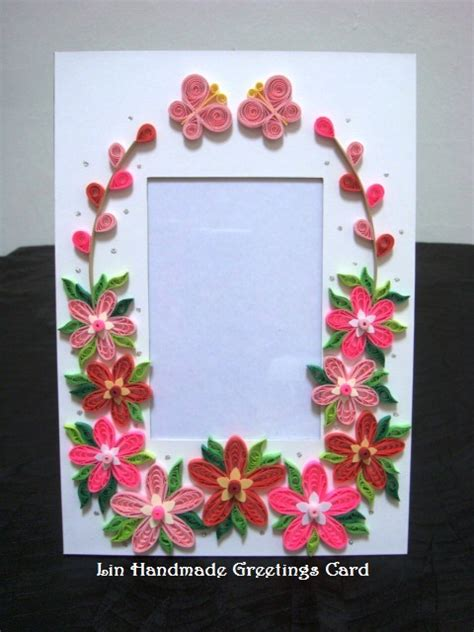 Handmade Paper Photo Frames Designs - paper photo frames with quilled flowers