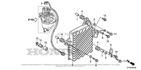 honda generator parts diagram honda eu3000is an generator jpn vin ezgf 1080001 to