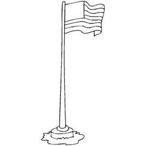 Flag On Pole Colouring Pages The Pole Coloring Pages