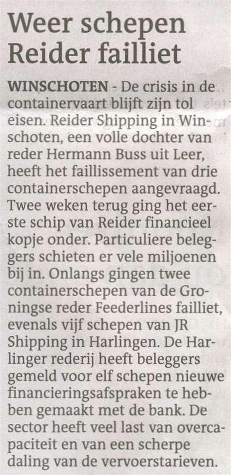scheepvaart crisis recessie in de scheepvaart en de gevolgen pagina 23