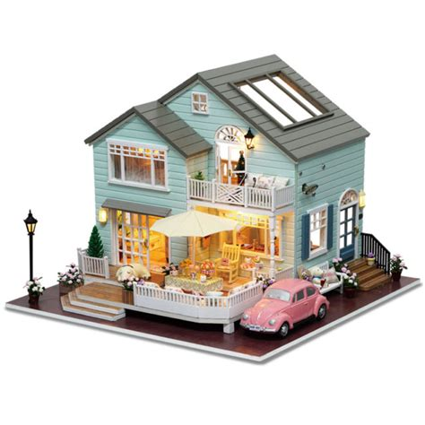 1 24 scale dolls houses dollhouse miniatures diy house kit with furniture 1 24 scale queenstown ebay