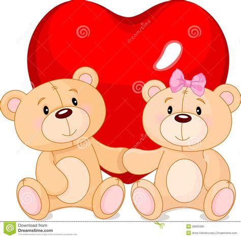 imagenes de osos del dia del amor y la amistad osos de peluche en amor ilustraci 243 n del vector