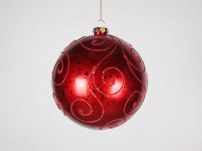 winterland inc glitter ball ornaments 140mm ornament with glitter design