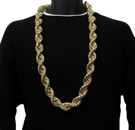 14k Yellow Gold Plated HEAVY RUN DMC 20MM Hip Hop Rope