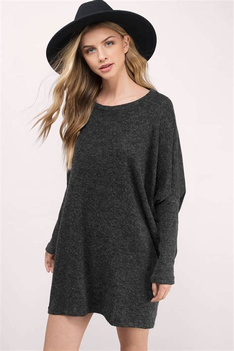 42589 Gray Oversize Top charcoal sweater grey sweater sleeve sweater 29 00