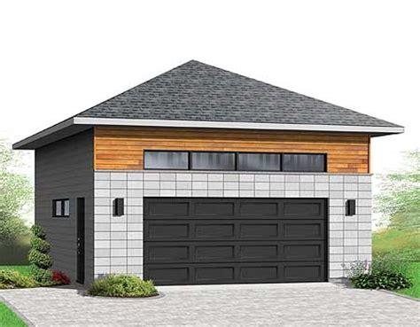 hip roof garage plans detached 2 car garagewith hip roof 22372dr