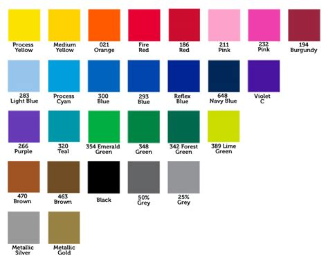 basic color chart canada lawn signs prices canadian yard signs coroplast