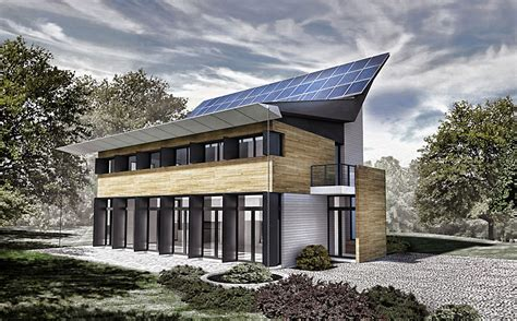 ultra modern pv house boasts scissored solar panels for a