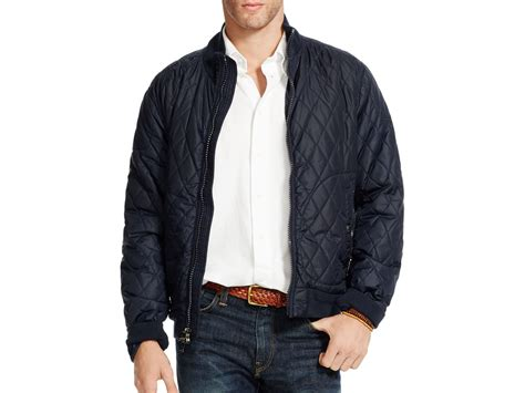 Cc034 Size M Black Blazer Formal Luaran Outerwear Fashion Wanita polo ralph quilted bomber jacket in black for lyst
