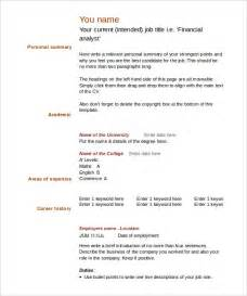cv template to fill in 40 blank resume templates free sles exles