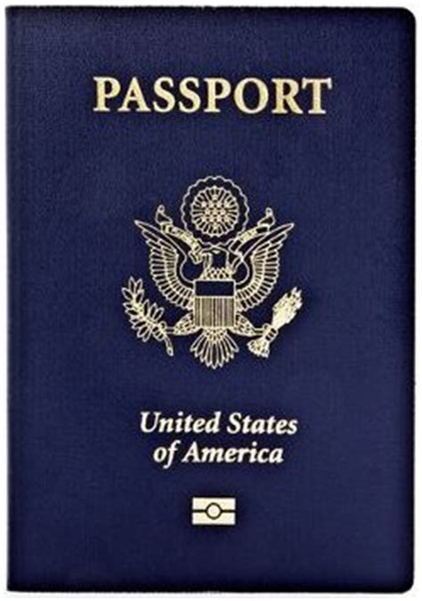 picture of a passport book e passport or electronic passport