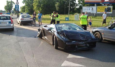 Lamborghini W Warszawie by Wypadek Lamborghini W Warszawie