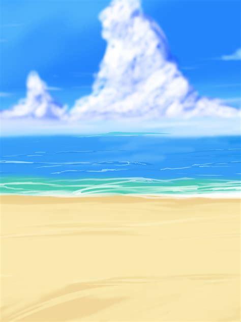 big anime style beach background  wbd