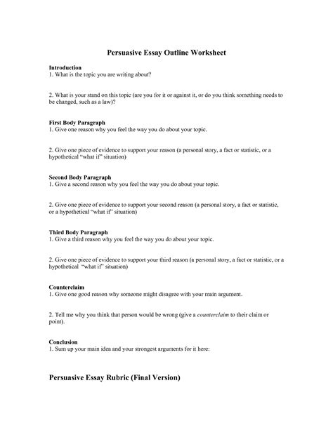 persuasive essay outline template persuasive outline template 28 images best photos of