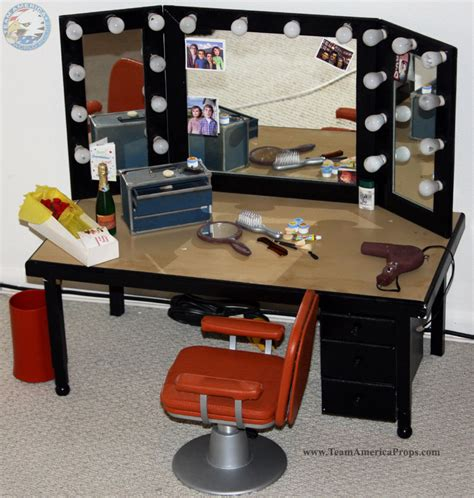 gary s make up desk and mirror from his dressing room from