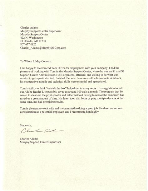 Business Relationship Reference Letter sle professional reference letter exle letters of