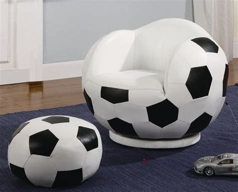 Soccer Chair And Ottoman Football Swivel Chair And Ottoman Set