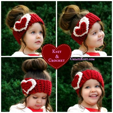 crochet pattern heart headband crochet heart ear warmer tutorials and patterns