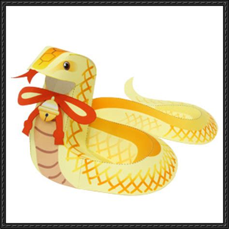 Snake Papercraft - canon papercraft animal paper model snake free paper