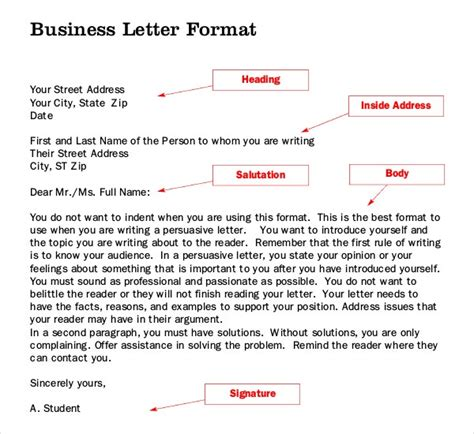 letter writing template word documents