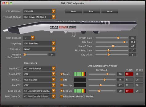 KVR: Akai EWI USB Control by Cognitone   MIDI Controller