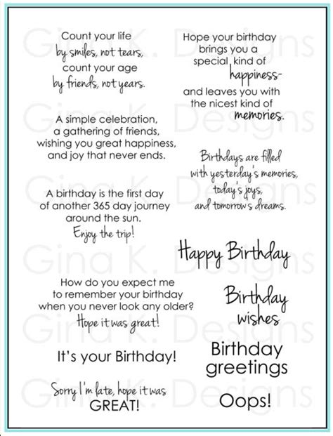 Sayings To Put In Birthday Cards 25 Best Ideas About Greeting Card Sentiments On Pinterest