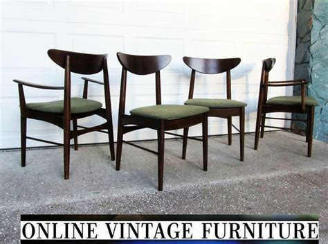 1950s Furniture by 4 Restored 1950s Chairs By Stanley Furniture Vintage Mid