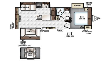 rockwood travel trailers floor plans 2017 rockwood ultra lite 2703ws travel trailer floor plan