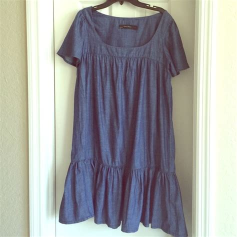 Basic Denim Dress 55 zara dresses skirts zara basic denim dress