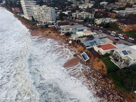 Sydney Storm Drone Footage Shows Collaroy Damage On Sunday Collaroy House
