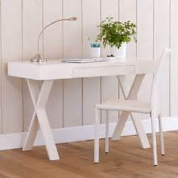 white simple desk glossy white sawhorse desk look 4 less