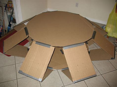 How To Make A Flying Saucer Out Of Paper - make a ufo from cardboard 5